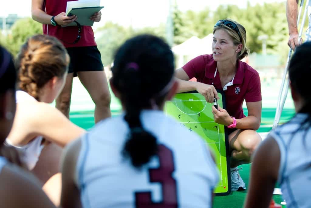 Stanford's Women's Field Hockey team Head Coach Tara Danielson