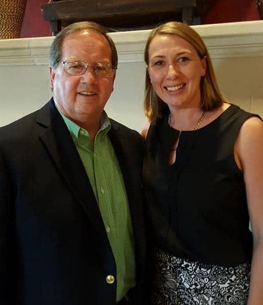 George Naughton with Liz Hanson